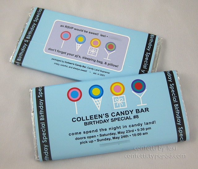 confetti by lexi colleens candy bar part 1