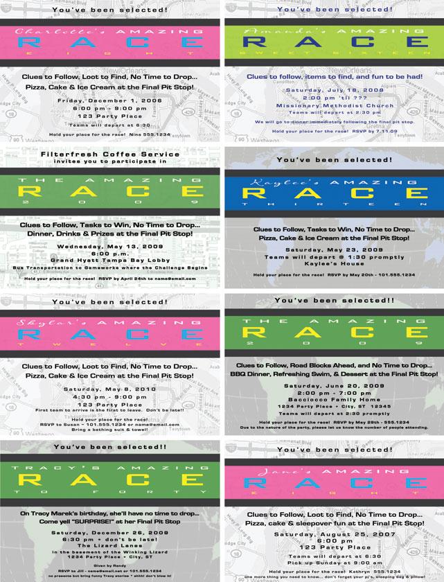 confetti by lexi invitations – Nascar Birthday Invitations