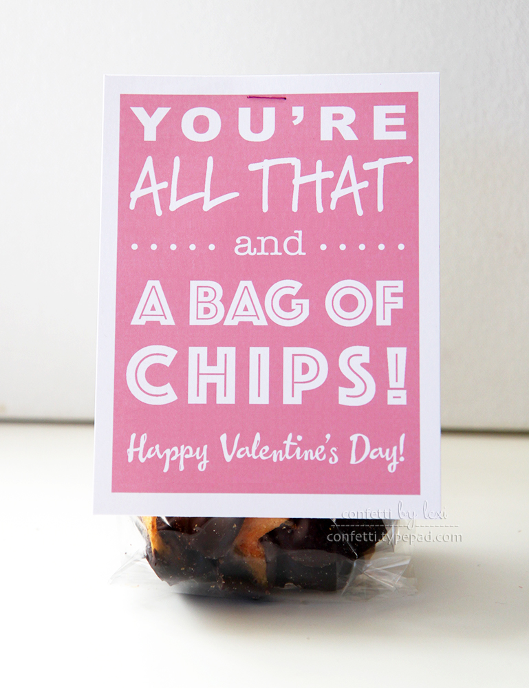 photo regarding You Re All That and a Bag of Chips Printable named confetti by means of lexi: valentine