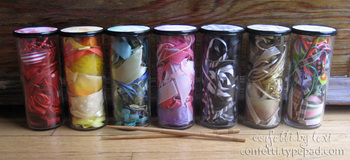 Ribbonscrapjars
