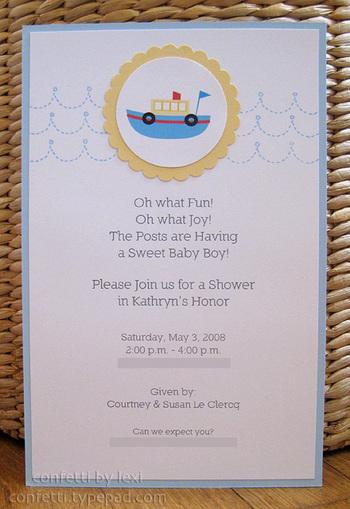 Babyboatinvite